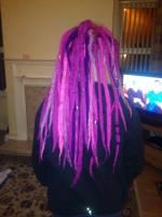 Permanent synthetic dreads