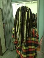 Temporary synthetic dreads